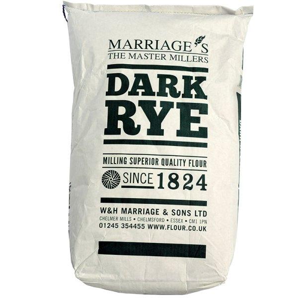 Marriages Dark Rye Flour 16kg