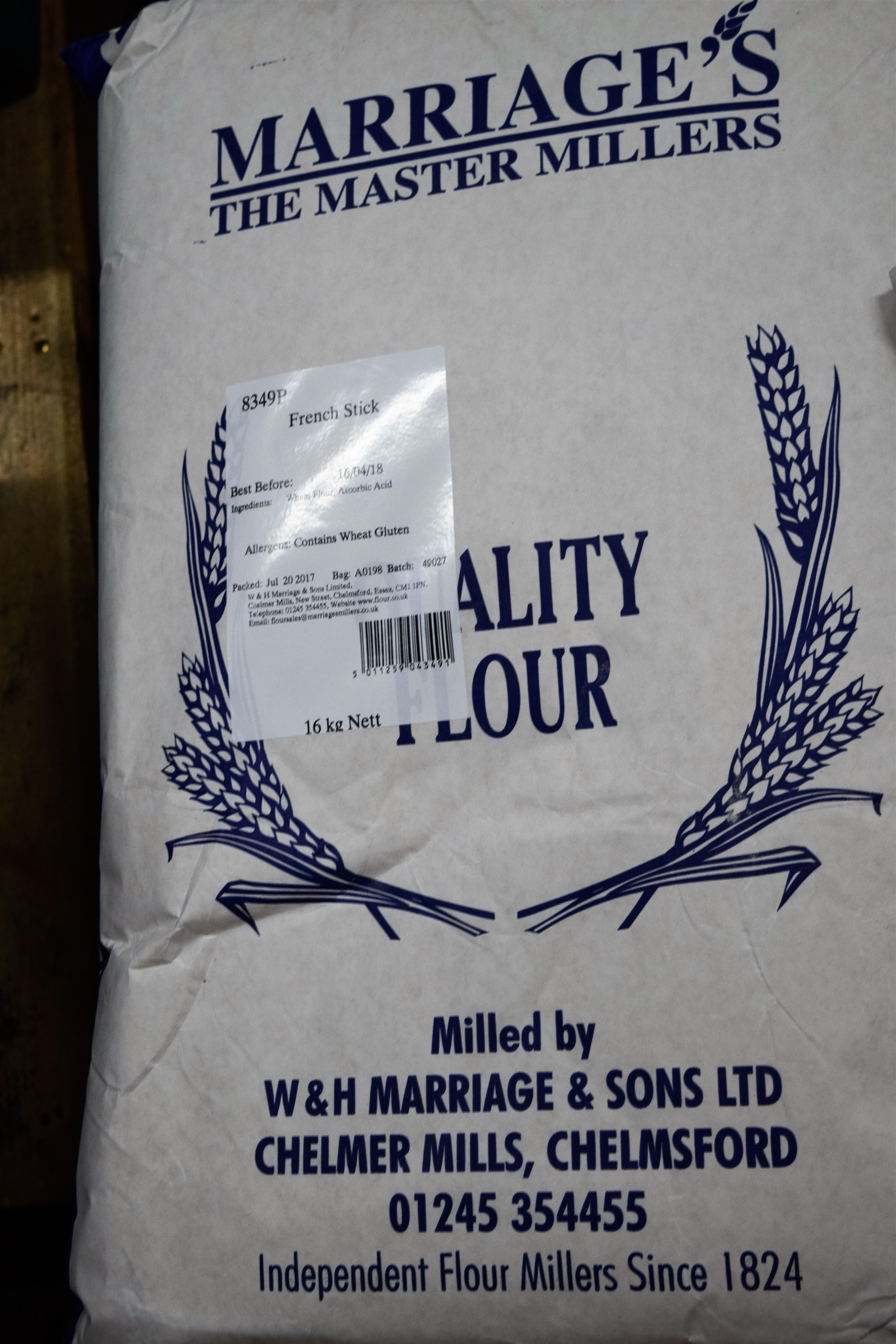 Marriages French Bread Flour 16kg