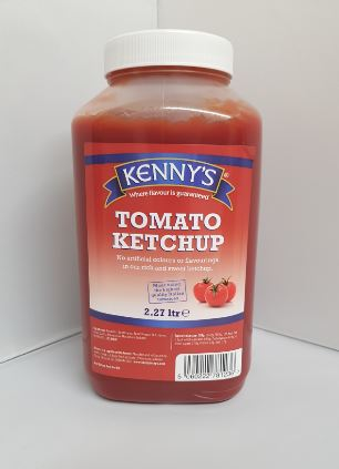 Kennys Allergen Free Tomato Ketchup 2.27ltr