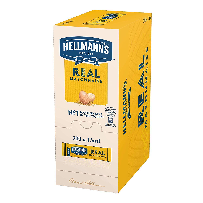 Hellmanns Mayonnaise Sachets 200 x 15ml