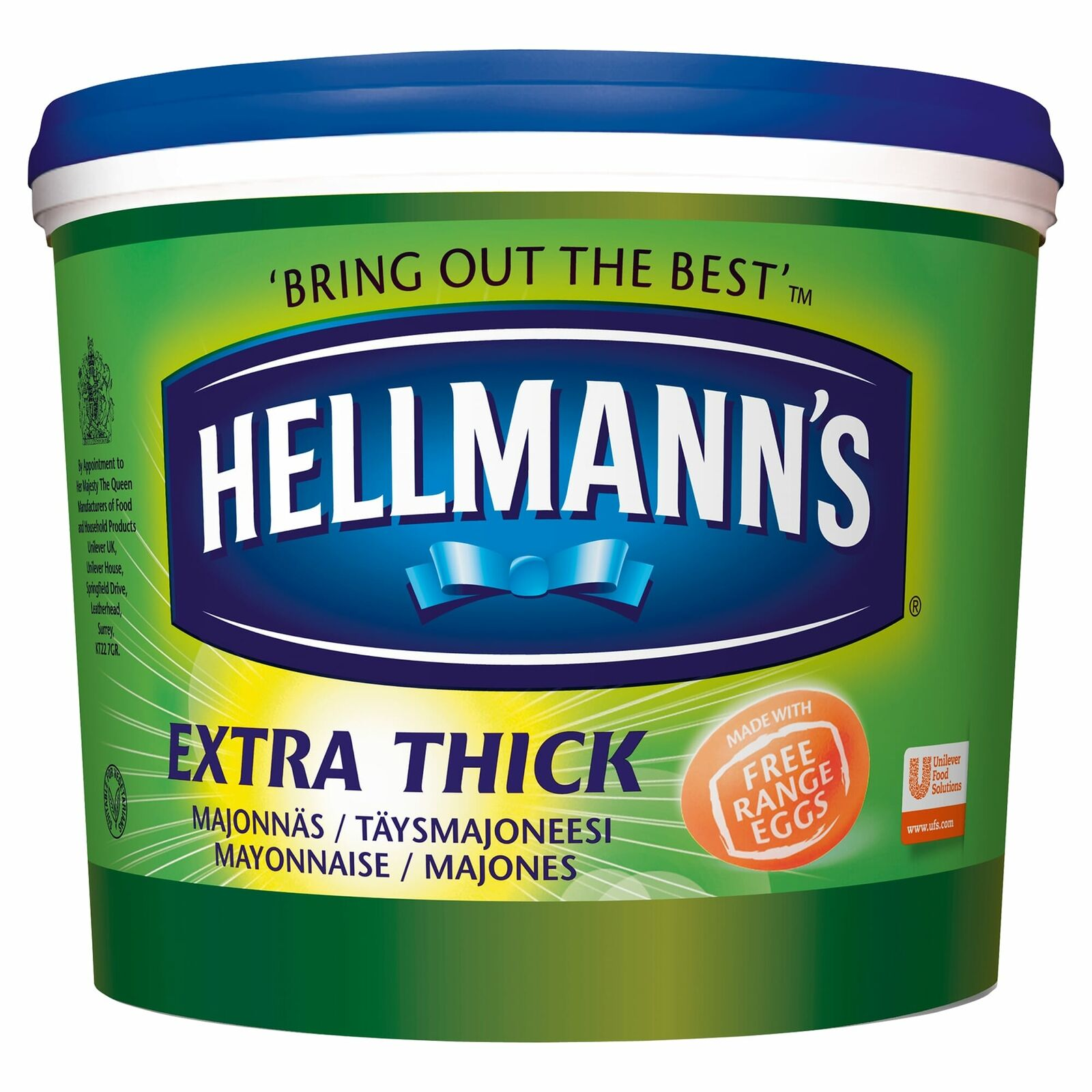 Hellmanns Mayonnaise Extra Thick 5ltr