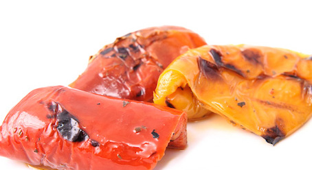 Gomo Chargrilled Red And Yellow Peppers in Oil 1.4kg