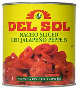 Del Sol Sliced Red Jalapenos 2.8kg