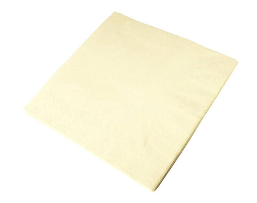 Cream Napkins-33cm 2Ply x100