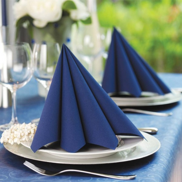 Dark Blue Napkins 40cm 2ply x125