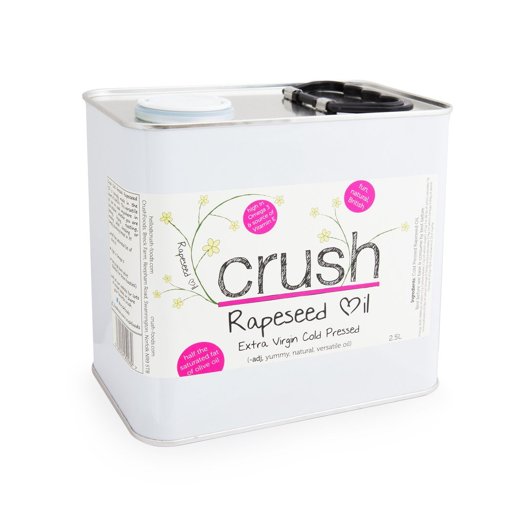 Crush Norfolk Extra Virgin Rapeseed Oil 2.5ltr