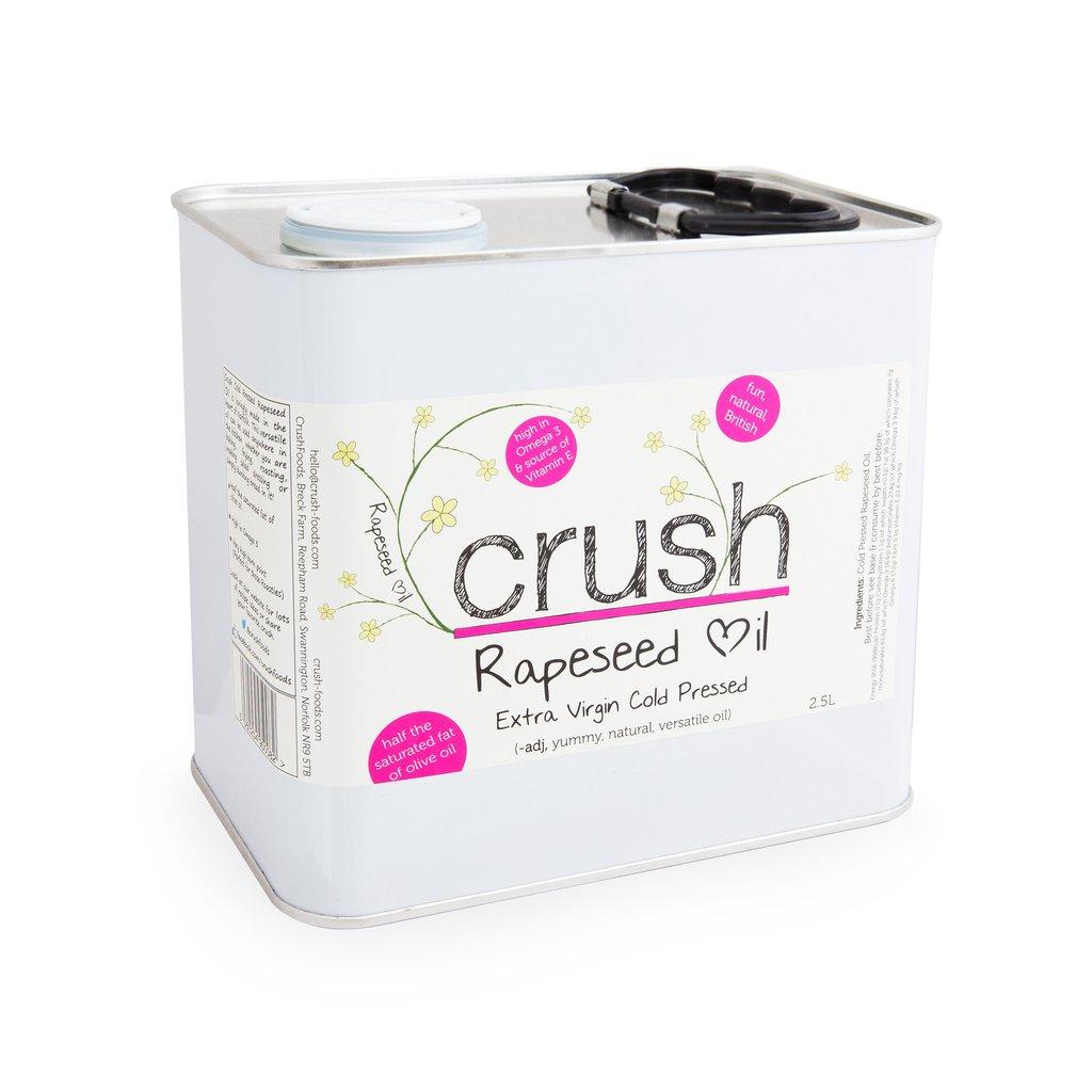 Crush Norfolk Extra Virgin Rapeseed Oil 2.5ltr