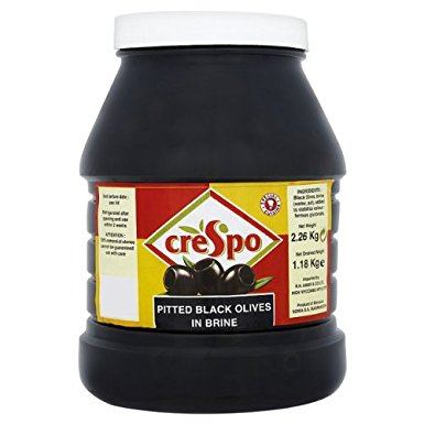 Crespo Pitted Black Olives 2.26kg