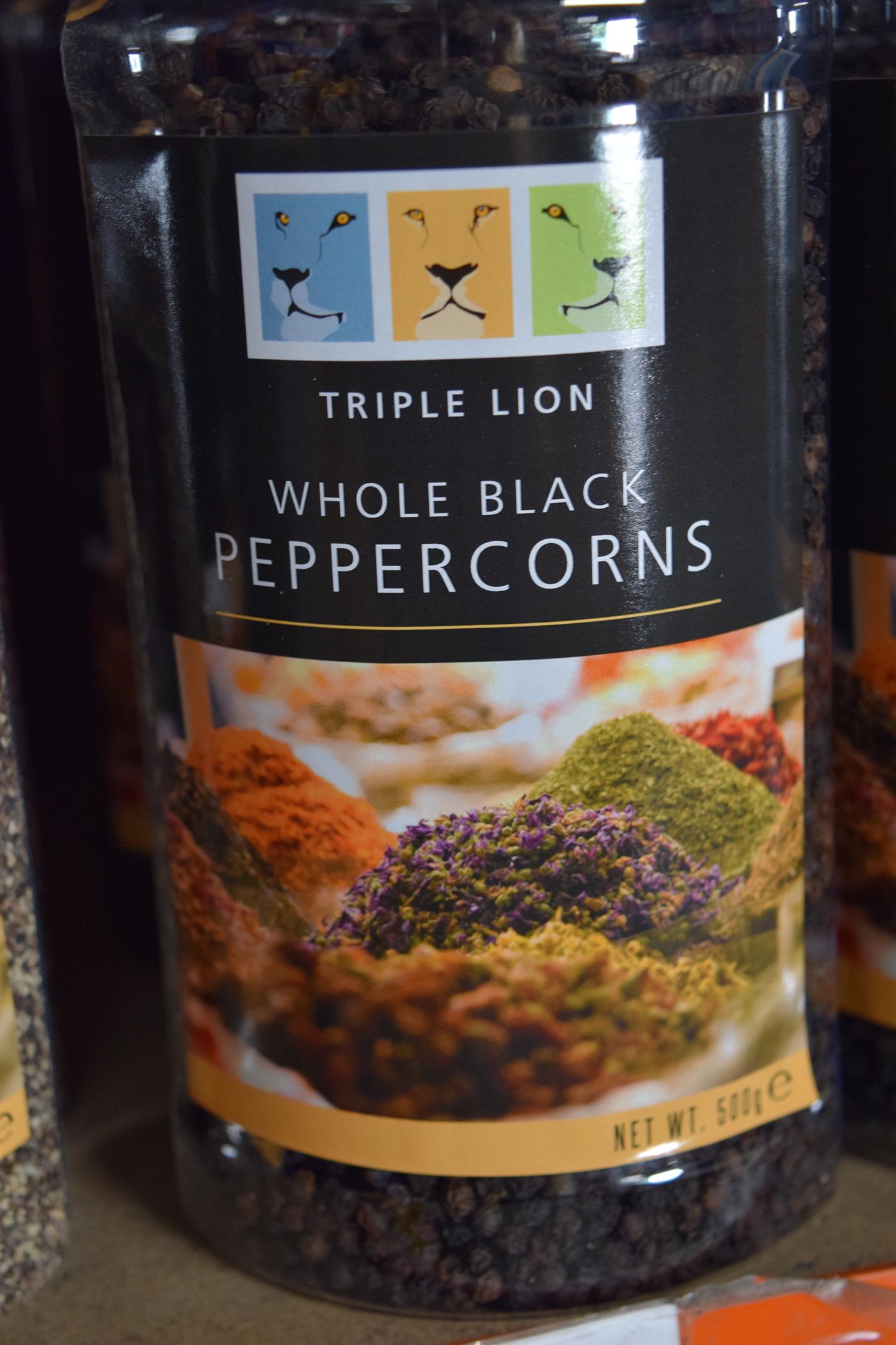Whole Black Peppercorns 500g