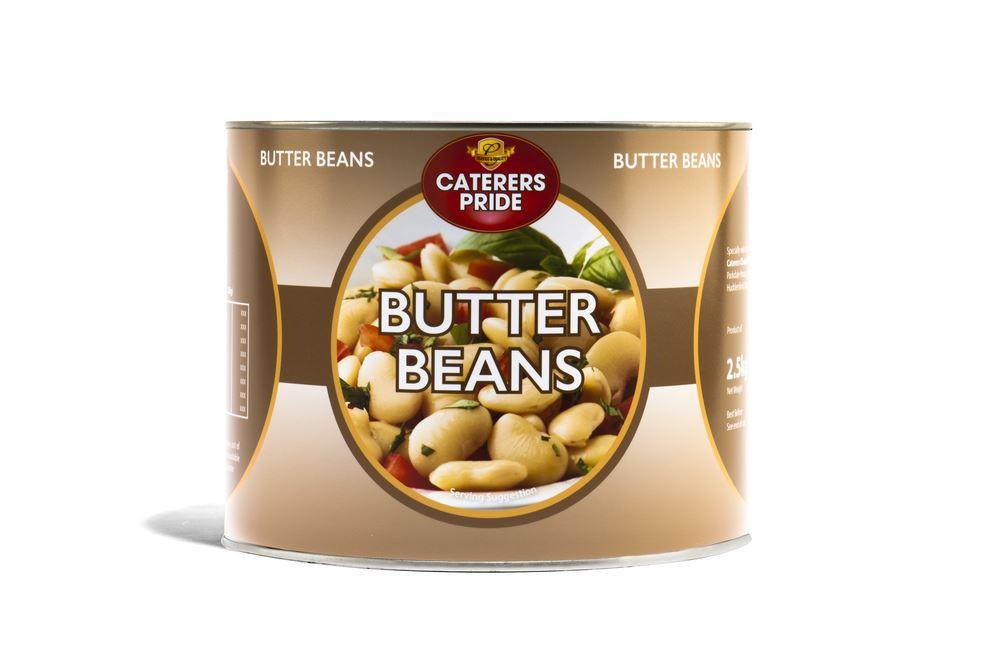 Lefktro Butter Beans Tin 2.5kg