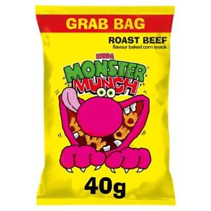 Monster Munch Roast Beef Flavour 30 x 40g