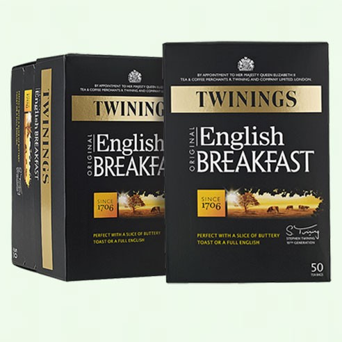Twinings English Breakfast-Tagged Envelopes 50s