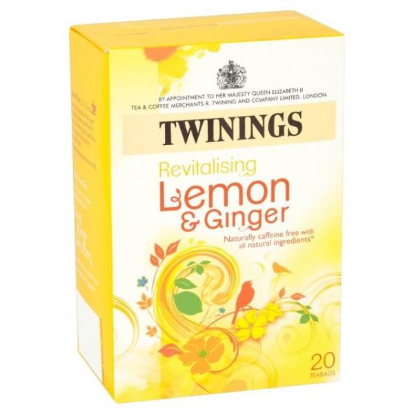 Twinings Lemon & Ginger Envelopes 20s