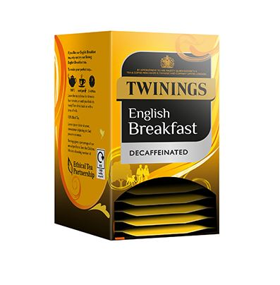 Twinings English Breakfast  Decaff  Envelopes 20s