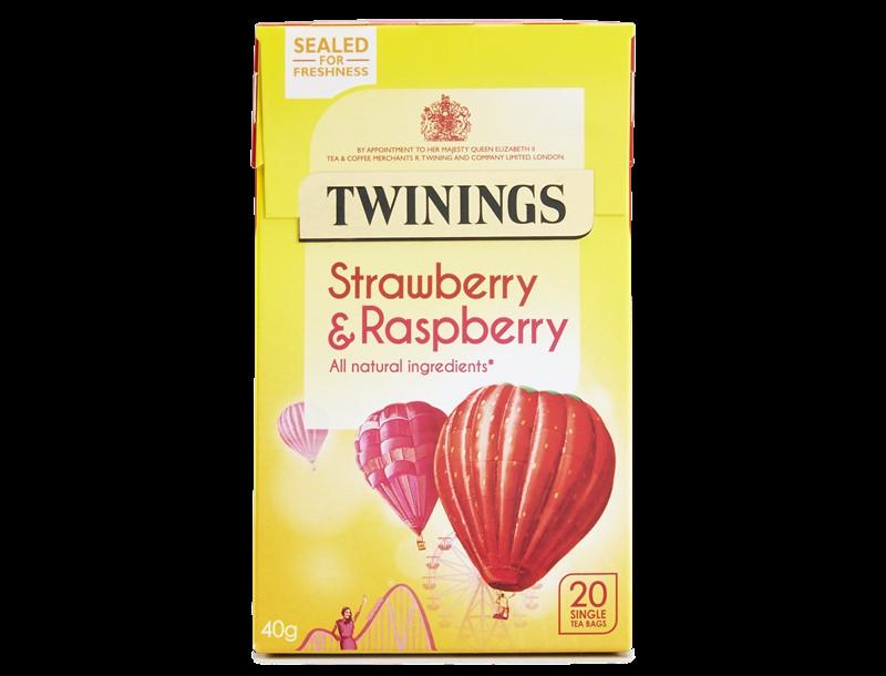 Twinings Strawberry & Raspberry Envelopes 20s