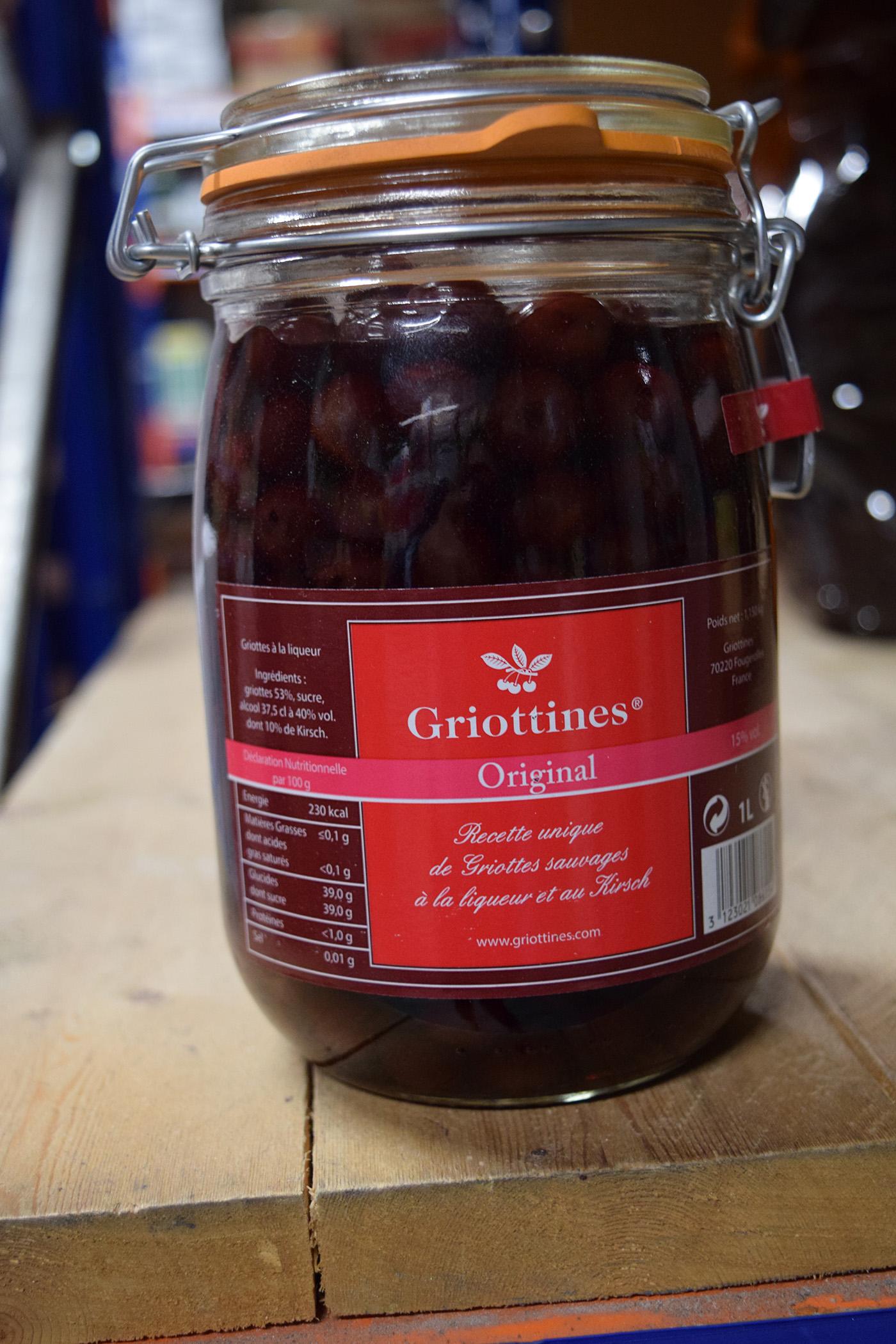 Griottines Cherries in Kilner Jar 1ltr