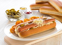 Jumbo Hot Dog Rolls x 48