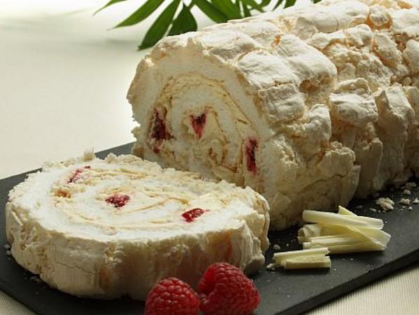 White Choc & Raspberry Roulade 2 x 10ptn