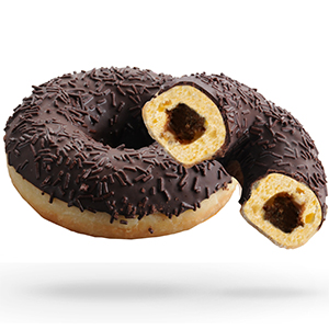 Chocolate Filled Ring Doughnuts x36