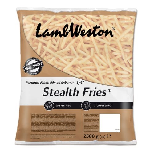 Lamb Weston Skin On Fries 6mm 4 x 2.5kg