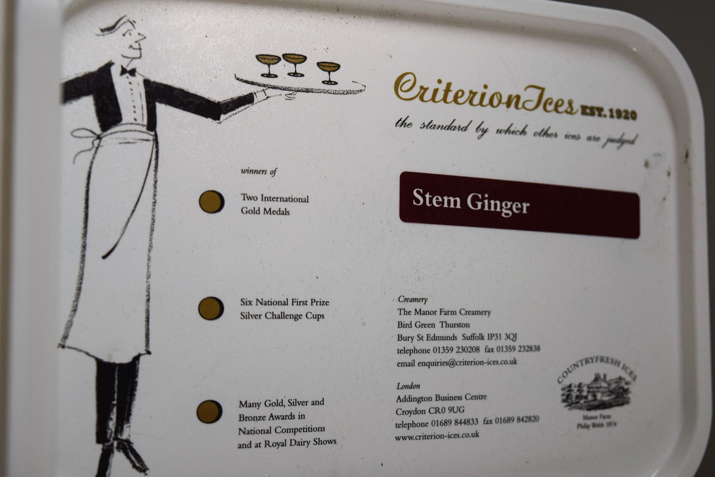 Criterion Stem Ginger Ice Cream 4ltr