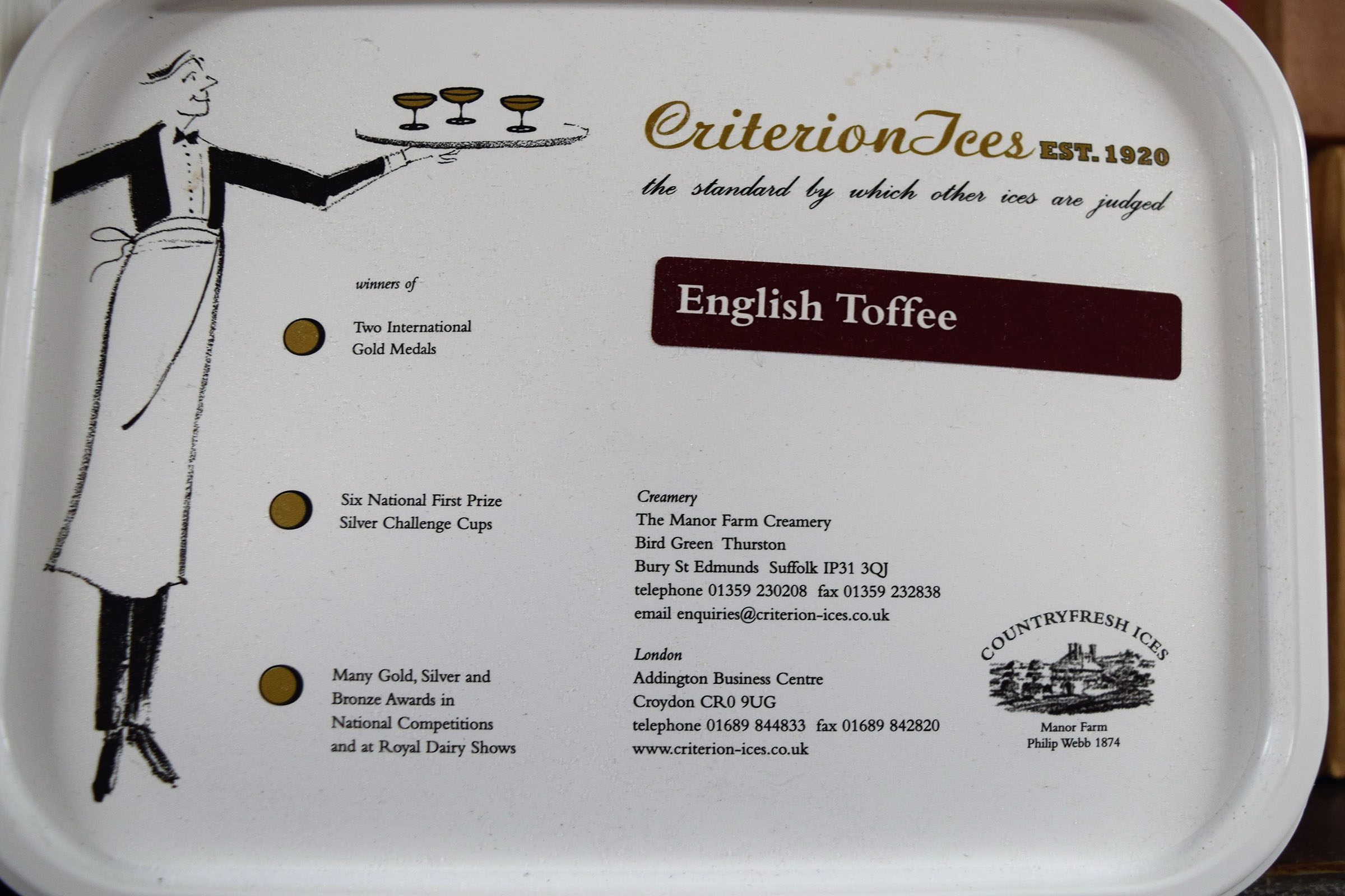 Criterion English Toffee Ice Cream 4ltr