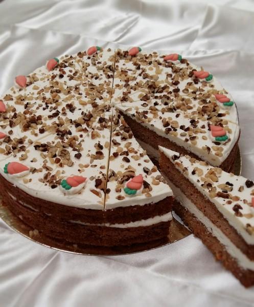 Creamy Carrot Cake 14  Presliced Portions