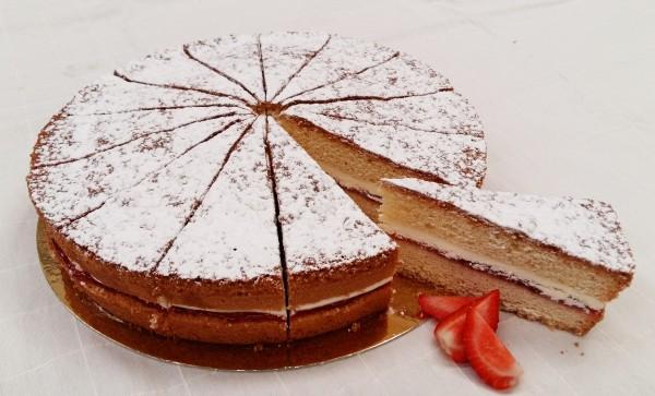 Victoria Sponge Cake 14  Presliced Portions