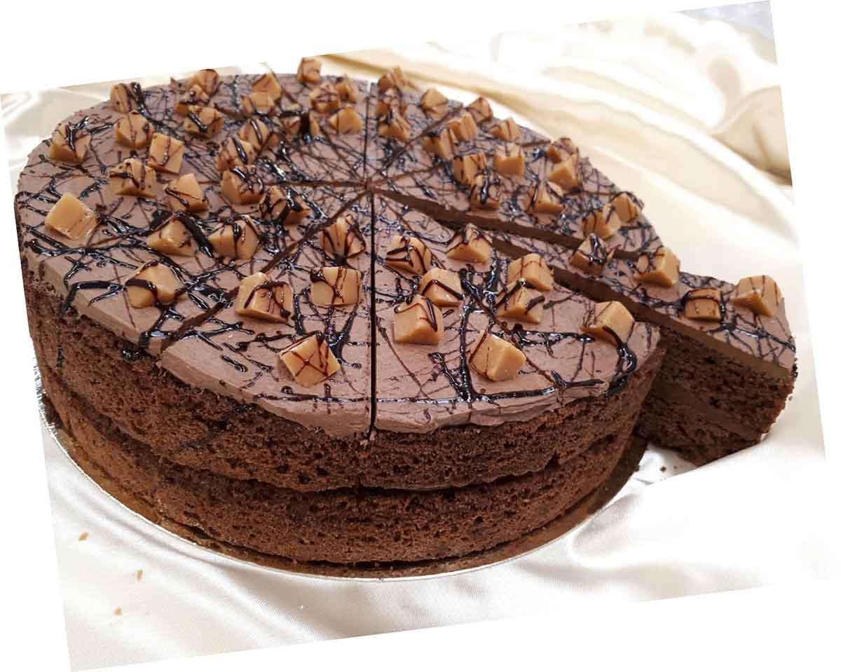 Double Chocolate Fudge Sponge Cake 14 Presliced Portions