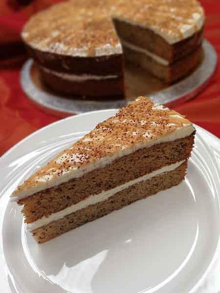 Banana Bread Sponge Cake 14 Presliced Portions