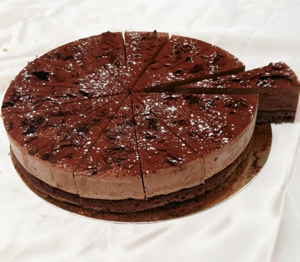 Dark Chocolate & Brownie Torte 16  Presliced Portions