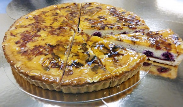 Cherry Bakewell Tart 12  Presliced Portions