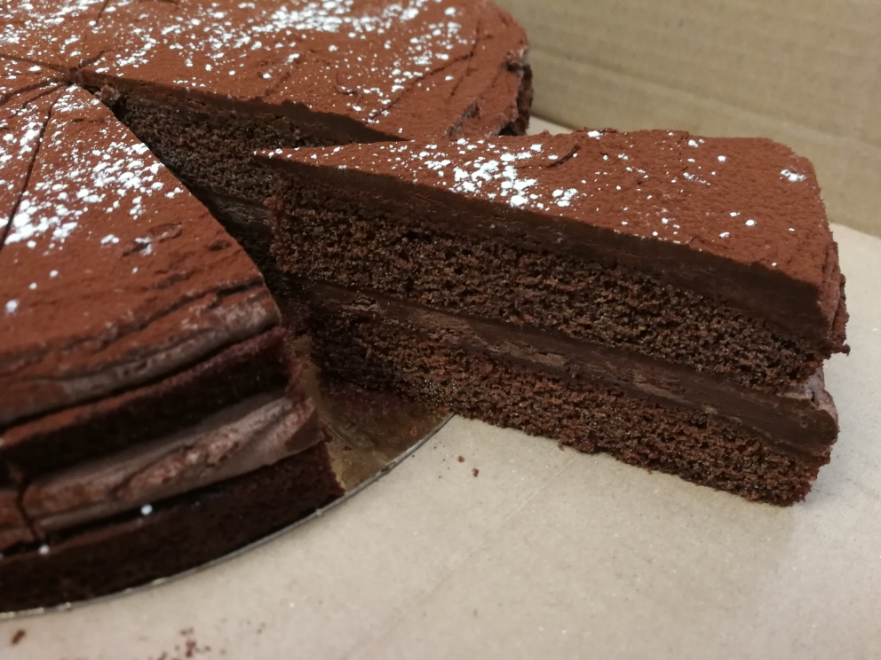 Vegan Chocolate Sponge Cake 14 Presliced Portions