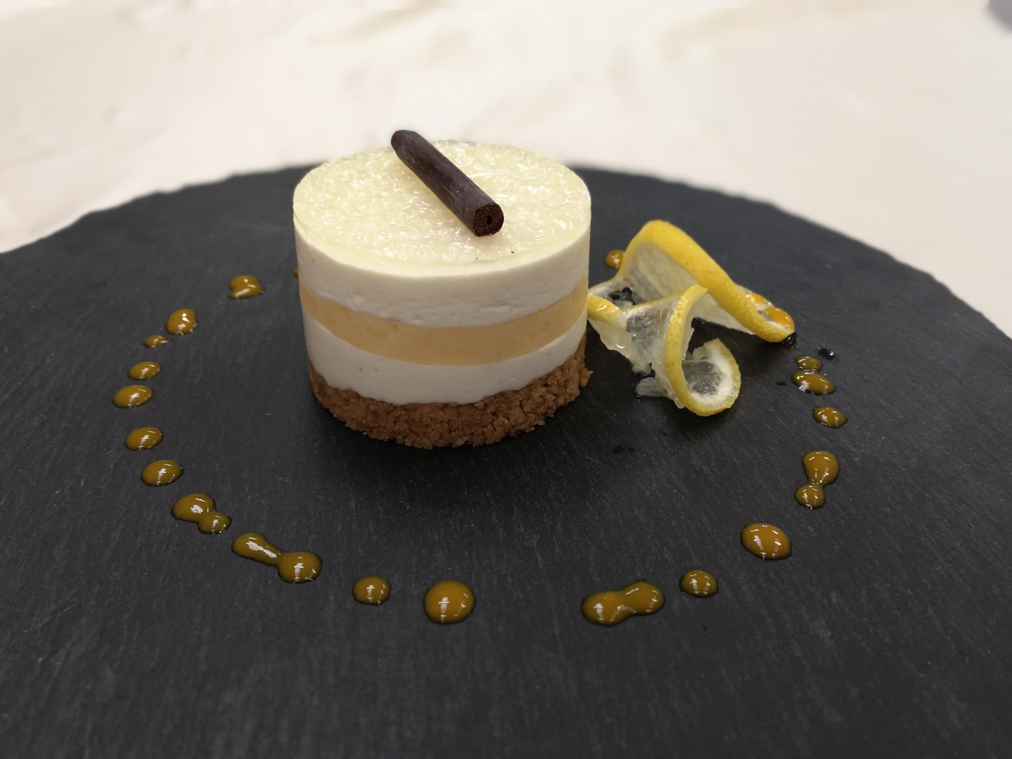 Vanilla & Lemon Curd Cheesecake Indv x 25