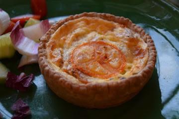 Indv Sun Dried Tomato  & Mozzarella Quiche x 18