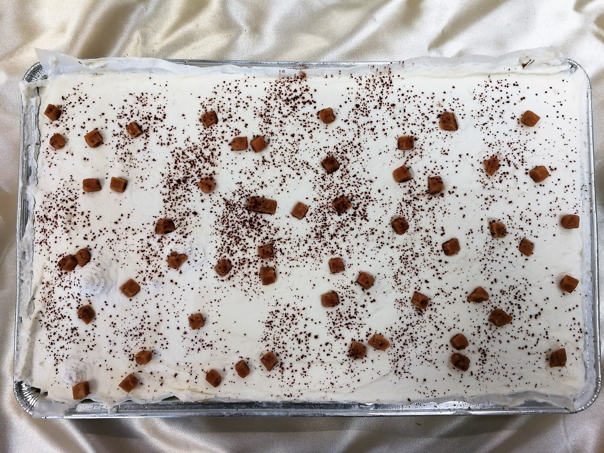 Sticky Toffee Sponge Tray Bake