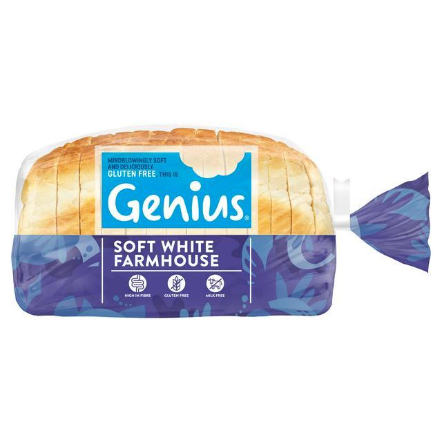Genius Frozen Gluten Free Sliced White Bread Loaf 535g