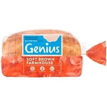 Genius Frozen Gluten Free Sliced Brown Bread Loaf 535g