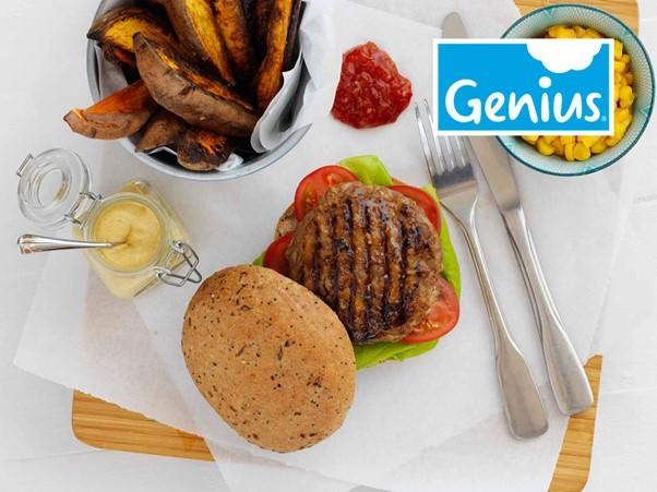 Genius Frozen Gluten Free Seeded Roll 25 x 68g