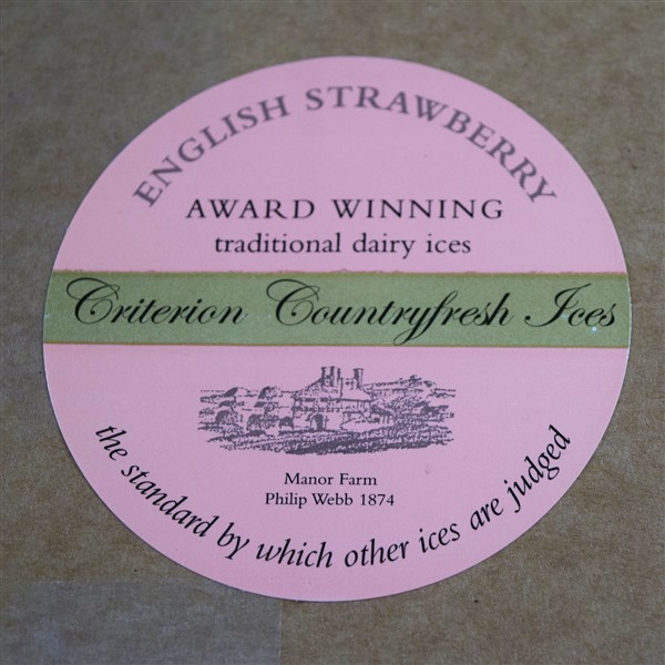 Criterion Strawberry  Ice Cream Tubs 120ml x 24