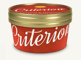 Criterion Caramel & Hazelnut Ice Cream Tubs 130ml x 18