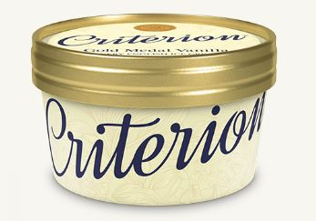 Criterion Vanilla Ice Cream Tubs 130ml x 18