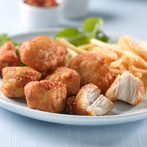 Meadowvale Frozen Cooked Battered Chicken Bites 2kg