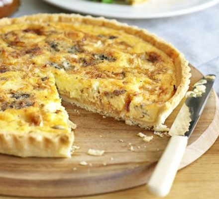 Cheese and Onion Quiche 28cm