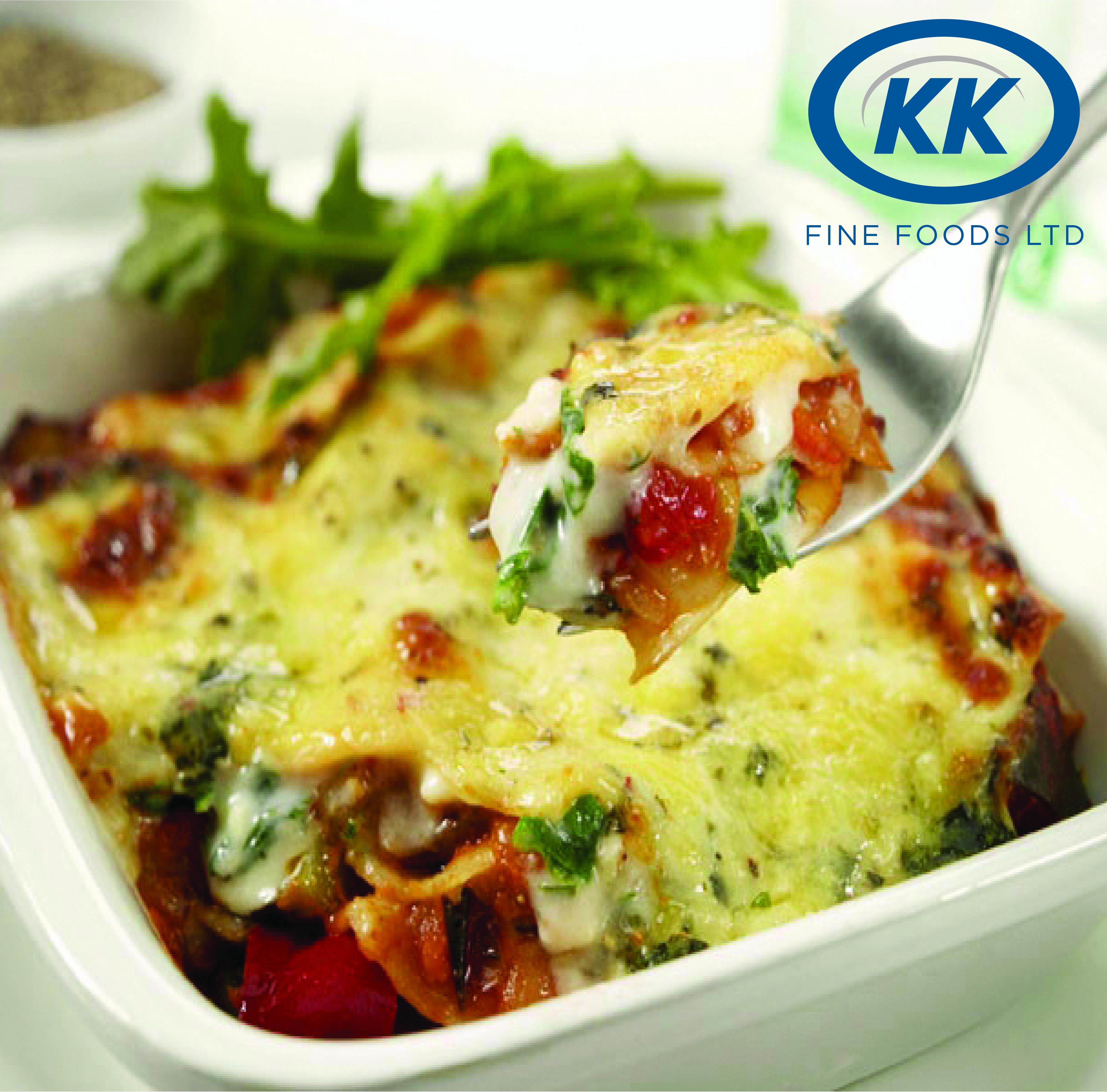 K.K Fine Foods Vegetable Lasagne 12 x 350g