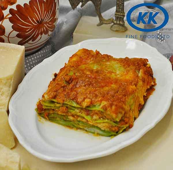 K.K Fine Foods Lasagne Verdi 12 x 400g