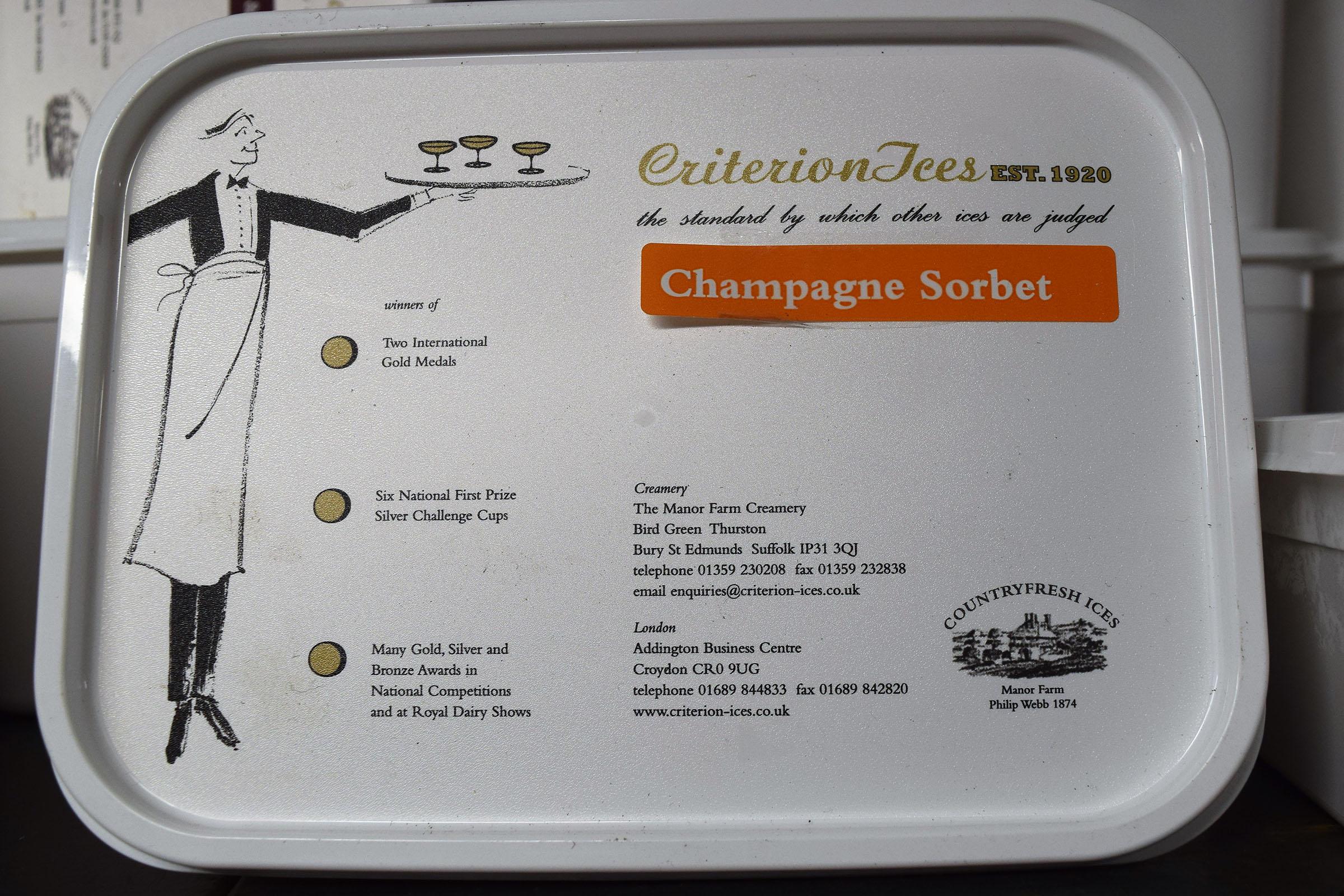 Criterion Champagne Sorbet 2ltr