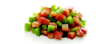 Diced Mixed Peppers Frozen 1kg