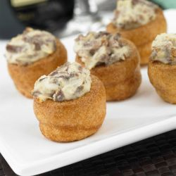 Yorkshire Puddings with Beef/Horseradish Canape x 48